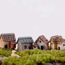 Домашний гаджет микро Украшение Мини Пейзаж дом сад строительство Смола милый DIY аксессуар орнамент миниатюрный открытый