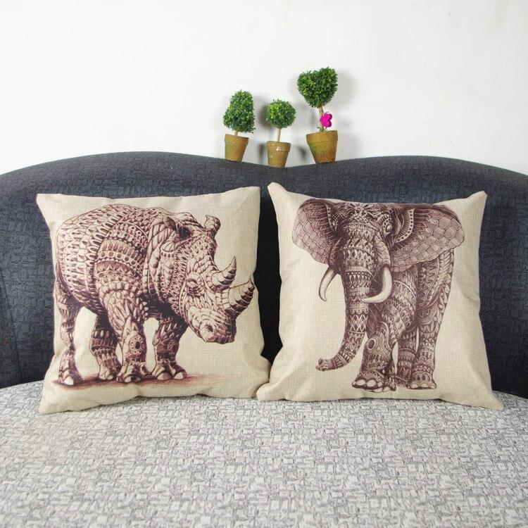 Throw Pillows Outdoor : HD print dining chair cushion 45x45cm car seat cushions Home decorative pillow pillowcase Simple ...