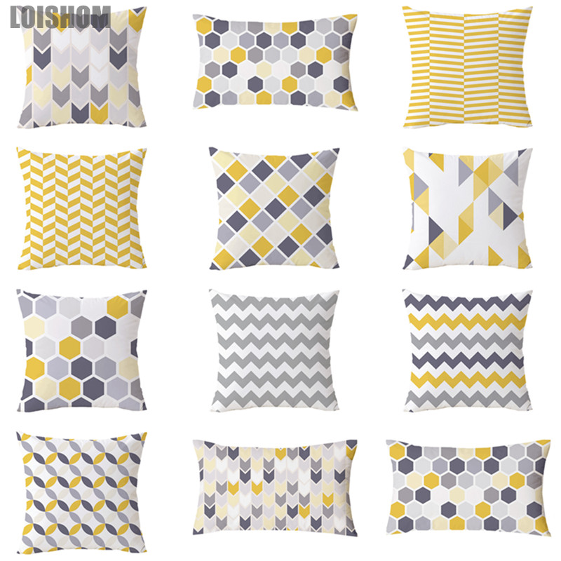 Home & Garden Home Textile Confident Modern Minimalist Geometry Cushion Cover Abstract Wavy Stripes Triangle Yellow Geometry Home Decoration Cushions Case For Sofa Moderate Price