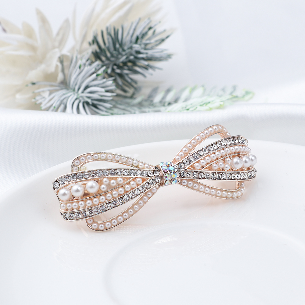 Cute Crystal Hair Hairpin Elegant Pearl Barrettes Resin Foral Hair Clip Barrette Headwear Tiara Accessories Gift For Woman Girls
