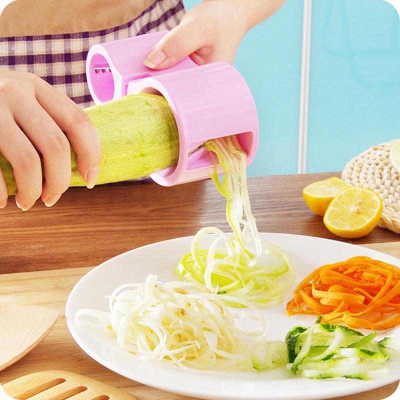 practical vegetable cutter peeler fruit spiral slicer fruit chopper zucchini noodle pasta. Black Bedroom Furniture Sets. Home Design Ideas