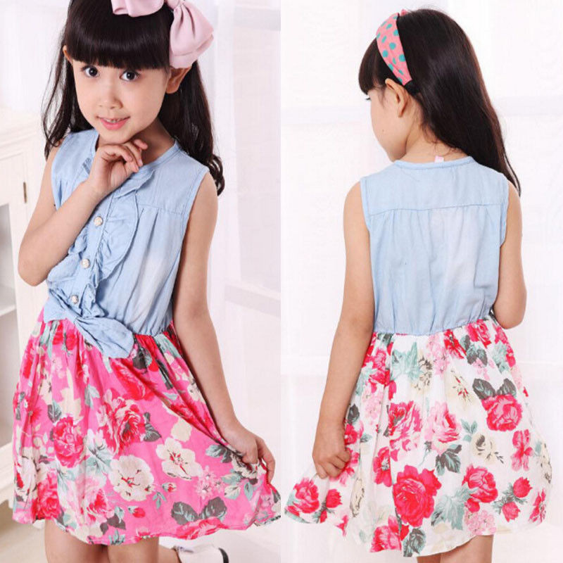 adsfay.com New-Mother-and-Daughter-Matching-Clothes-Dress-Sleeveless-Floral-Mom-Kids-Parent-Short-Dress-Outfits.jpg