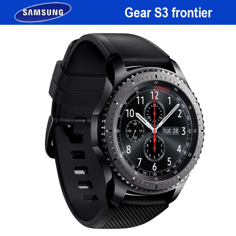 Samsung Vitesse S3 Frontière Smartwatch GPS Bluetooth Fitness Fréquence Cardiaque En Plein Air Portable Montre Smart Watch Étanche Pour iPhone Android