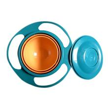 Children Tableware Non Spill Bowl Toy Dishes Universal 360 Rotate Avoid Food Spilling Food Snacks Baby Shower(China)
