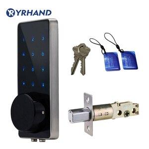 Image 1 - Fechadura eletrônica da porta do deadbolt da casa inteligente, fechadura da porta de digitas do código keyless inteligente impermeável do pino da senha