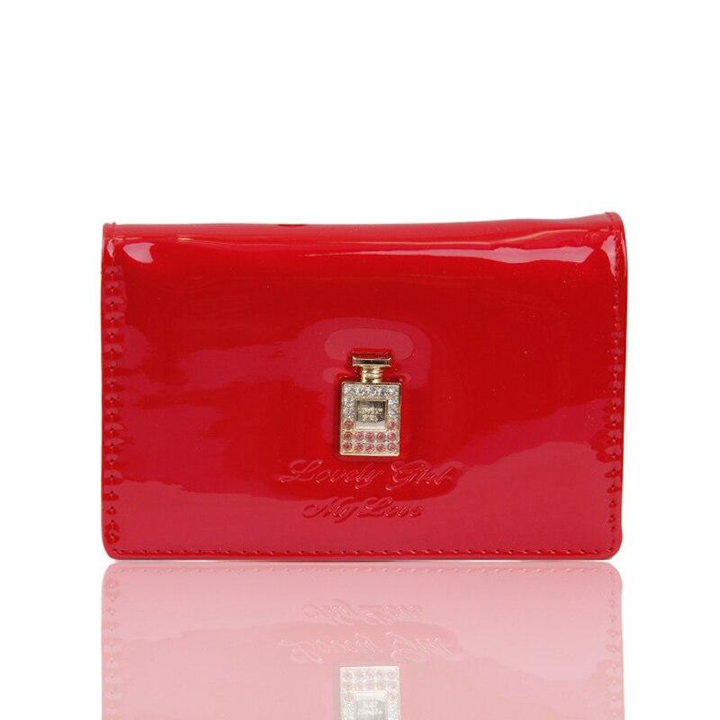 New 2018 Korean Brand PU Leather Mini Wallet Perfume pattern Women Small Wallets Female Purse Coin Card Holder Dollar Bag