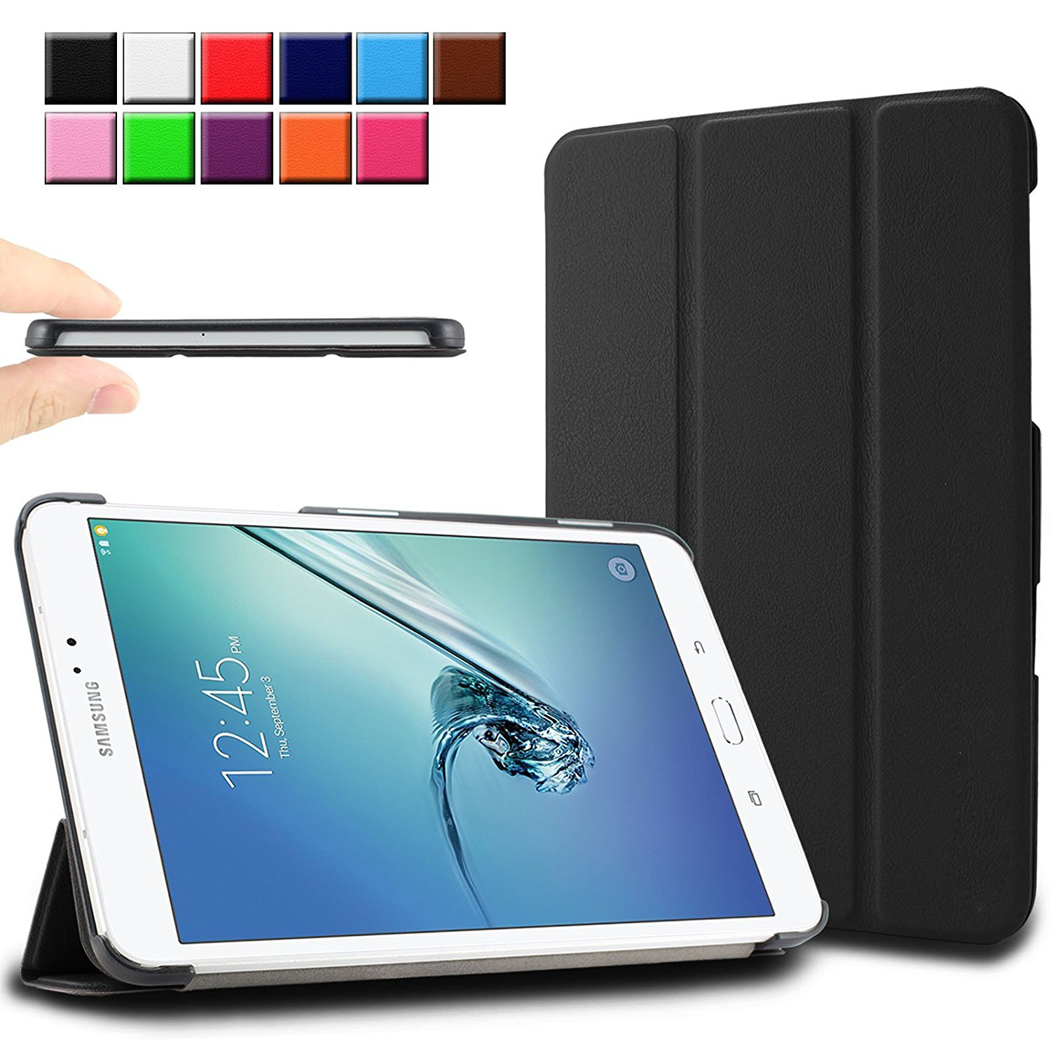 For Samsung Galaxy Tab S2 9.7 Case, Ultra Slim Stand Smart Cover for Galaxy Tab S2 9.7 SM-T810 T815 Protective Skin Shell Case new ultra slim waterproof soft silicone rubber tpu protective shell case cover for samsung galaxy tab s2 8 0 sm t710 t715 tablet