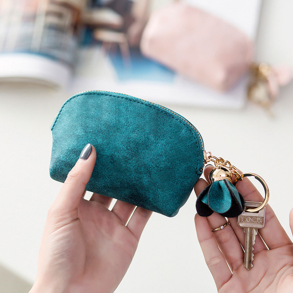B# Superior Quality Womens Women Leather Small Mini Flowers Wallet Holder Zip Coin Purse Clutch dropship