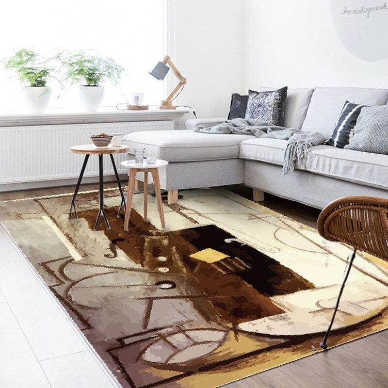 Tapis Rectangle imprimé couronne pour salon chambre enfant aire de jeux tapis corail velours chaise tapis de sol maison Textile extérieur - 6