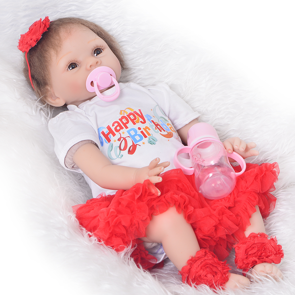 New Design Newborn Dolls Birthday Gifts Realistic Silicone Vinyl Reborn Baby Dolls For Sale Fashion Bebe Menina Baby Doll Toys new fashion design reborn toddler doll rooted hair soft silicone vinyl real gentle touch 28inches fashion gift for birthday