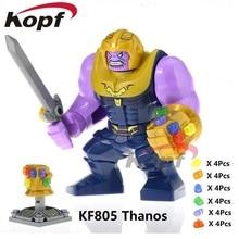 Infinity War Thanos Custom Minifigura con Guante 24 Piedras Marvel Avengers US
