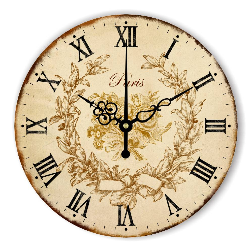 Antique Home Decor Wall Clock With Silent Clock Movement The Bird ...
