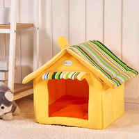 Hot New Fashion Striped Removable Cover Mat Dog House Dog Beds For Small Medium Dogs Pet Products House Pet Beds for Cat