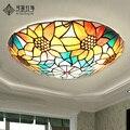 Европейский сад Подсолнух потолочные лампы  современный минималистский спальня исследование гостиной лампы освещение Светодиодная лампа ...