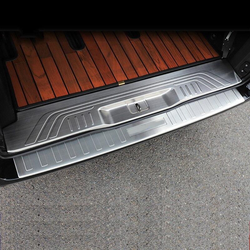 For Mercedes Vito W447 Rear Bumper Protector Guard Trim Cover Matte Brushed Sill