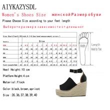 Women Peep Toe Faux Suede Ankle Strap Sandals