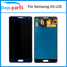 цена на 20Pcs Wholesale LCD For Samsung Galaxy A5 A500 A500H A500F A500M LCD Display Touch Screen Glass Panel Assembly Replacement