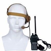 Военные съемки тактическая гарнитура микрофон используется с PTT рация для CS Охота игры наушники для связи