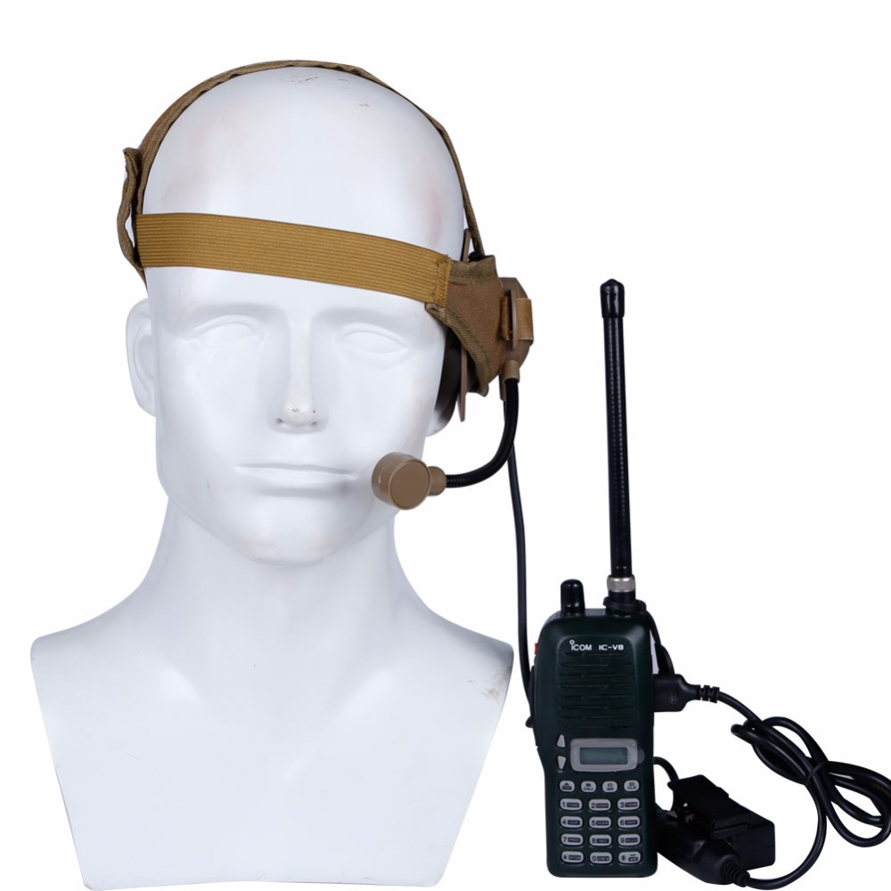 Military Shooting Tactical Headset Microphone Used With PTT Walkies Talkie For CS Hunting Games Communication Headphone