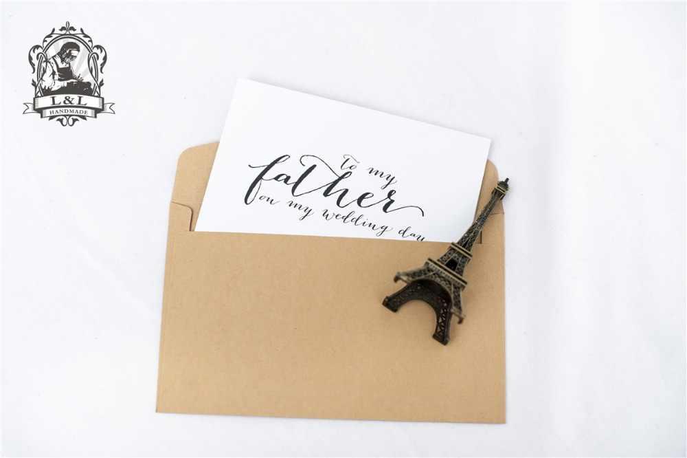 Tarjeta c21-Wedding para tu madre y tu padre-a mis padres de la novia novio tarjetas-madrastra, papá Noel el día de mi boda