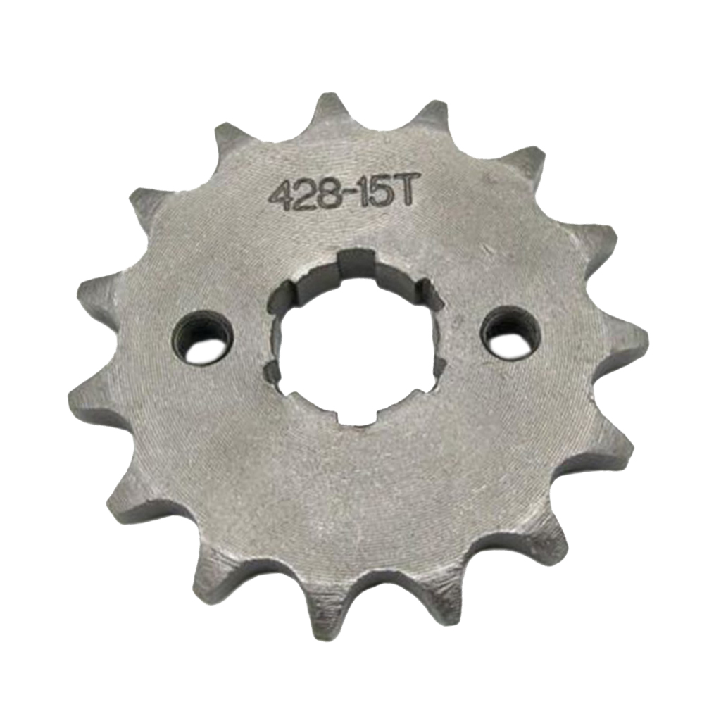 15T Teeth 20mm Shaft 428 Drive Chain Front Sprocket Cog Iron For Pit Trail Dirt Bike ATV Quad Buggy Dropshipping
