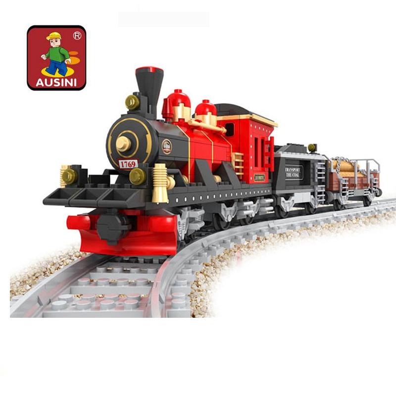 buy building block train set enlighten train series steam freight locomotive. Black Bedroom Furniture Sets. Home Design Ideas