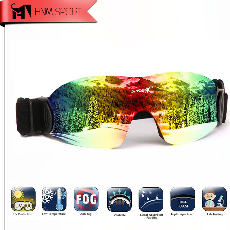 Prix pour 2017 Anti-Brouillard La Poussière Coupe-Vent UV400 Polarisées Masque de Ski Lunettes de Neige Vélo Snowboard Lunettes Lunettes Bril lunettes de Soleil