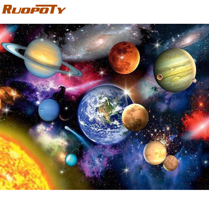 RUOPOTY 60x75cm Frame Diy Painting By Numbers Kit Landscape Modern Wall Art Picture By Numbers Unique Gift For Home Decor Arts