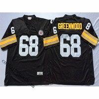 Mens Retro 1975 LC Greenwood Genäht Name & Anzahl Rückschritt-fußball Jersey Größe M-3XL