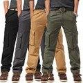 4 colores puros tamaño Grande Marca ejército uniforme Trajes de Carga pantalones para hombres qualtity pantalón de los hombres pantalones de los hombres la ropa militar K05