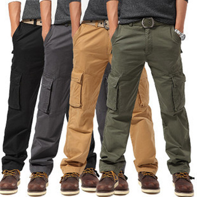 4 pure colors Big size Brand army uniform Overalls Cargo Pants for men qualtity men's pant trousers men military clothing K05