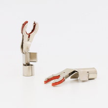 Hallo end audio VB419R audio Y spaten stecker mit heatshrink für hallo end audio audio 8TC und 12TC cheap audiocrast Keine CN (Herkunft) Nein Standarderdung Elektrischer Stecker Y spade plug picture show audio cable audio spade plug
