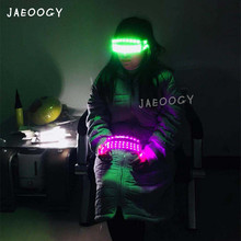 Free Shipping LED Light Glasses Stage Concert Performance Fluorescent Props Mask Birthday Party Lights