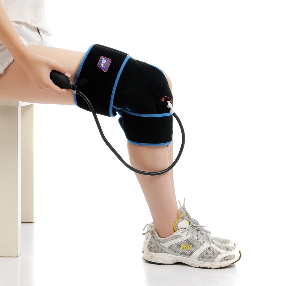ФОТО Adult Size Black Knee Cold Compression Wrap For Sports Hurt Thrapy Adjustable Complete Coverage Of Affected Area