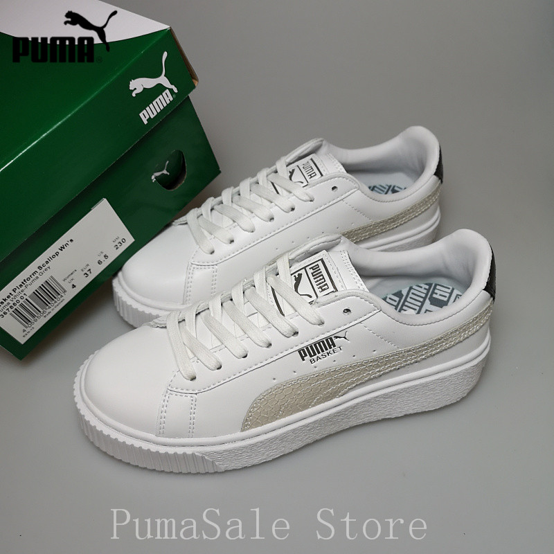 9526aebed2c6 PUMA Basket Platform Euphoria Metal Damen Women Badminton Shoes New Arrival  Training Sports Sneakers Women Size