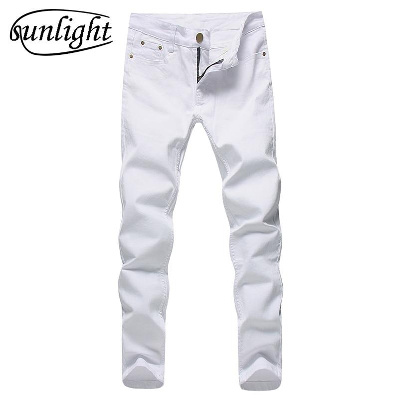 2017 Для мужчин стрейч Джинсы для женщин модные белые джинсовые Мотобрюки для мужчин весна и осень ретро Брюки для девочек Повседневное Для Мужчин's Джинсы для женщин размер 27-36