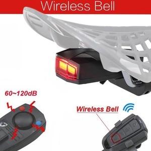 Image 5 - Беспроводной Электрический велосипесветильник звонок, светильник дный сигнал тревоги, велосипедный задний фонарь, светодиодный Противоугонный сигнал, дистанционное управление, велосипедные аксессуары