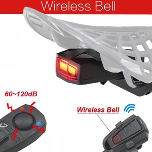 Image 5 - Wireless Electric Cycling Bell light Bicycle Alarm Light Cycling Taillight horn LED Anti theft Remote bike Accessories