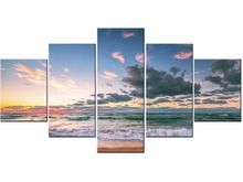 5 Pieces HD Wall Art Picture Gift Home Decoration Canvas Print painting beautiful sea sunset  Framed J009-003 цена