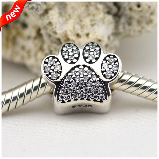 bb9d361f17724 Fits Pandora Bracelet &Necklace Paw Silver Beads With Cubic Zirconia Newest  Original 925 Sterling Silver Charms DIY Wholesale -in Beads from Jewelry &  ...