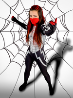 2018 NEW Customized Silk Cindy Moon Spider Women Suit 3D Printing Halloween Spiderman Cosplay Costume Female/Girl/Customized