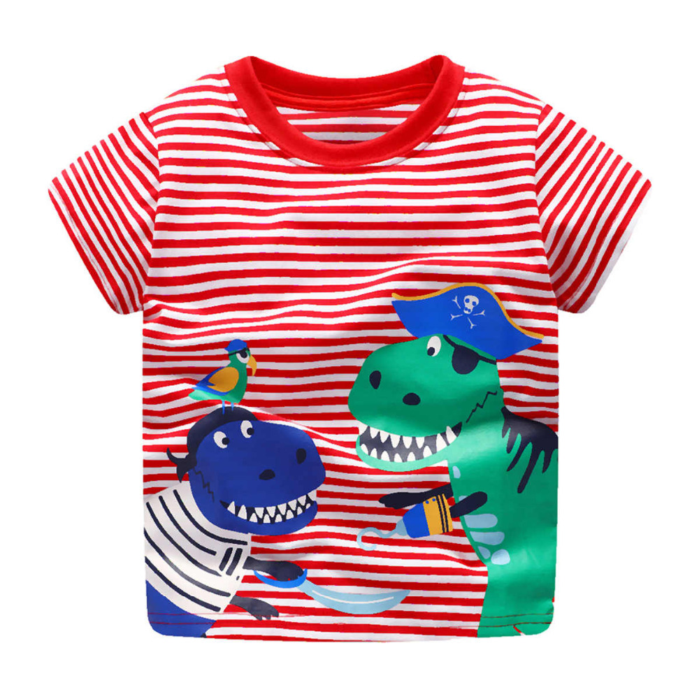 Niño camiseta bebé verano ropa 2018 Littlemandy dinosaurio animal - Ropa de ninos
