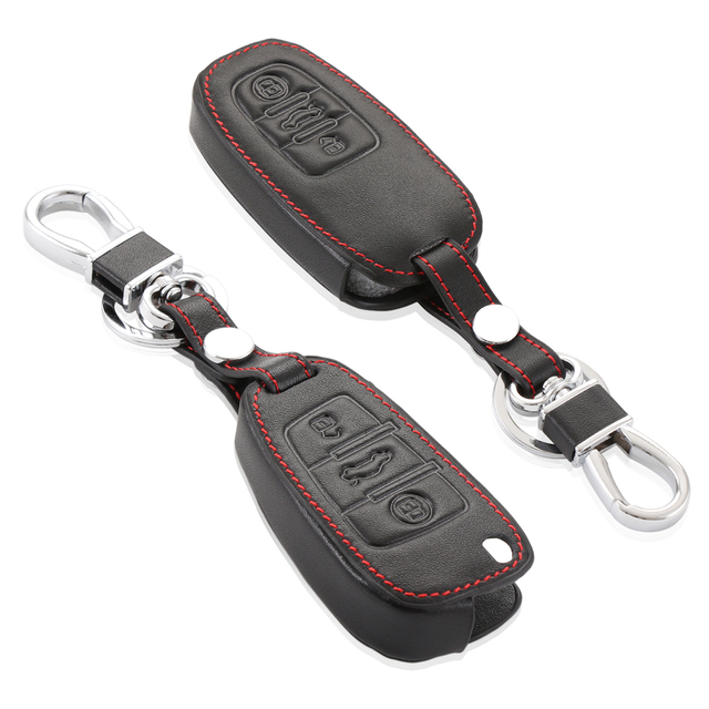 New high quality car remote key leather cover for Audi A4 A6 RS4,A5 A7 A8 S5 RS5 8T,Q5 Q3 S6 A3 A1, car accessories