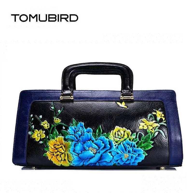 2019 новый улучшенный теплые роскошные из натуральной кожи ручной работы Роза сумки с тиснением дизайнерские женские натуральная кожа сумка ...