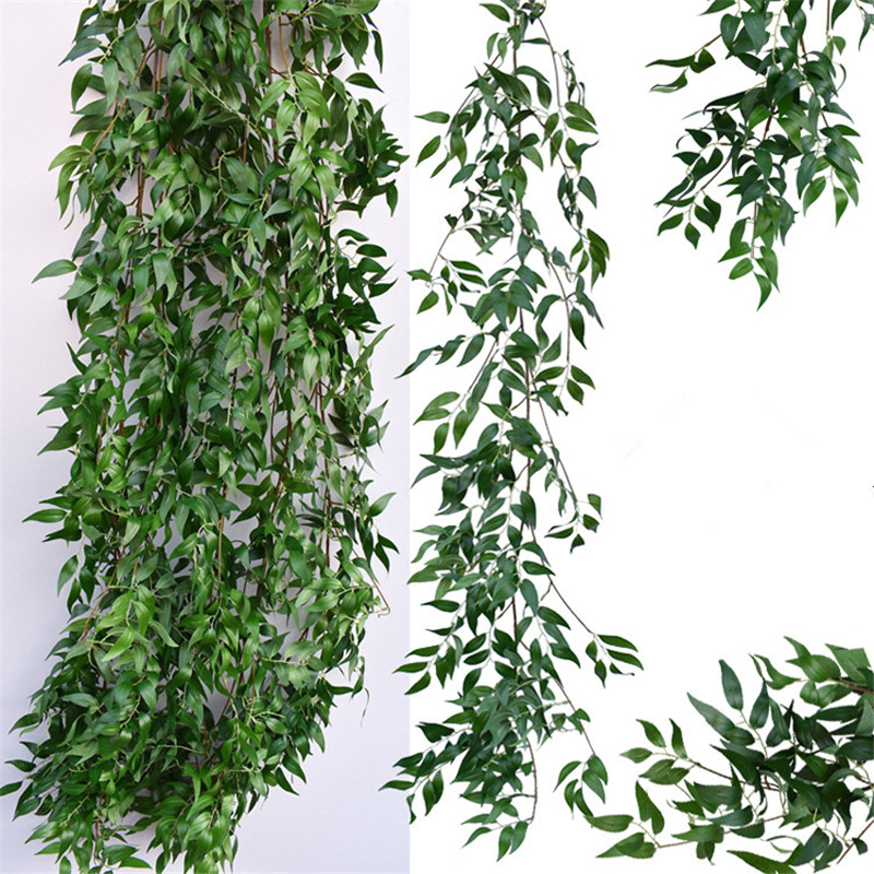 Artificial Willow Vine Faux Plant For Wedding Decoration Plantas Artificiales Fake Leaves Garland Rattan Lierre Artificiel