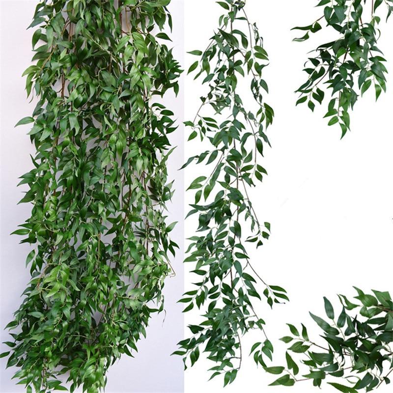 Искусственное растение для свадебного украшения, искусственные листья, гирлянда из ротанга