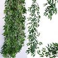 Planta artificial do falso da videira do salgueiro para a decoração do casamento plantas artificiais folhas falsas garland rattan lierre artificiel