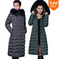 Winter Jacket Women 2015 Winter Coat X-long Plus Size 5XL Long Parka Luxury Fur Cotton-Padded Down Coats Women Wadded Jackets