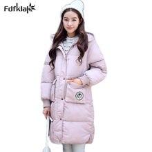 cb460c870931 Moda mujer chaqueta de Invierno 2017 nuevas mujeres con capucha de  espesamiento chaquetas de gran tamaño