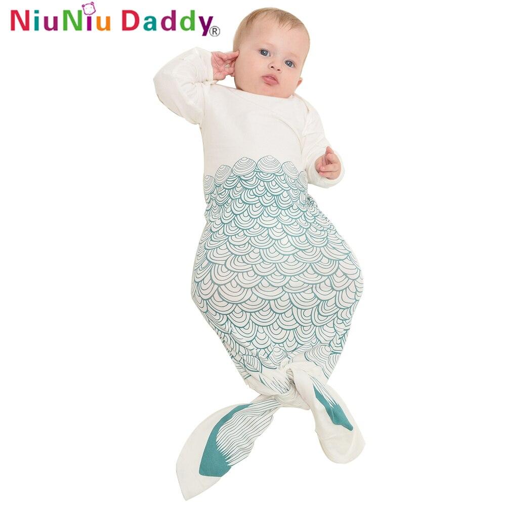 Baby Mermaid Sleeping Baby Swaddle Wrap Sobres para recién nacidos Suave pañuelo de algodón para bebés saco de dormir swaddleme ropa de cama infantil